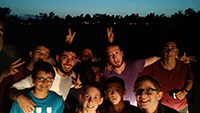 Some teens from Chabad Center of Universal City in the San Diego area having a mishmar outing